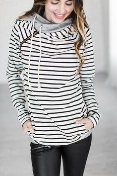 Double Hooded Sweatshirt - Tan [ships 12/23]