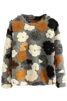 To find out about the Grey Round Neck Flower Pattern Sweatshirt at SHEIN, part of our latest Sweatshirts ready to shop online today! Sweat Shirt, Style Feminin, Handmade Clothes, Sweater Fashion, Pulls, Get Dressed, Street Style Women, Flower Patterns, Knitwear