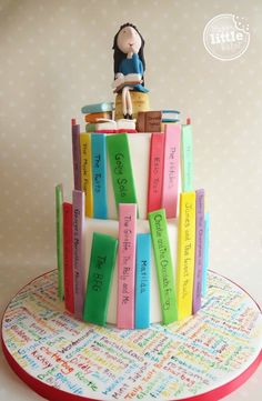 Roald Dahl/ Matilda themed cake.                                                                                                                                                     More
