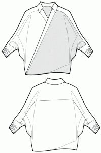Twist shirt beach cover up - sewing patterns - Ralphpink-patterns.com