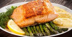 Salmon and Asparagus Sheet Pan - Carolina Country Healthy Gourmet, Healthy Recipes, Dairy Recipes, Free Recipes, Salmon Skewers, Arugula Salad Recipes, Salmon And Asparagus, Atkins Recipes, Natural Remedies