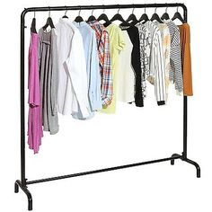 Garment Racks 166325: Freestanding Black Metal Clothes Rack Storage Organizer Garment Hanger Stand -> BUY IT NOW ONLY: $71.95 on eBay!