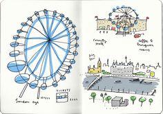london year 1 london eye mercedes leon illustration
