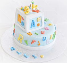 boy birthday alphabet cake | Alphabet Birthday Party 3 | Flickr - Photo Sharing!