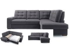 מערכת ישיבה - סלון פינתי נפתח למיטה