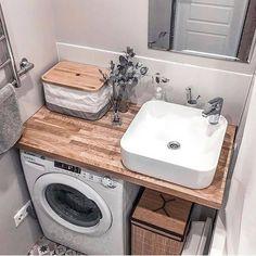 Laundry Room Design, Home Room Design, Bathroom Design Small, Bathroom Layout, Bathroom Interior Design, Tiny House Bathroom, Laundry In Bathroom, Bad Inspiration, Bathroom Inspiration