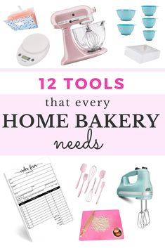 12 tools that every home baking business needs. These tools will help increase efficiency and productivity in your home bakery business! Tools for baking and running the business side of things! Home Bakery Business, Baking Business, Catering Business, Cake Business, Business Ideas, Business Planning, Clear Plastic Containers, Food Storage Containers, Receipt Organization