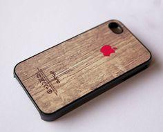 Apple Logo On Wood