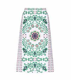 Greenfield cotton skirt   Tory Burch