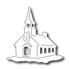 Frantic Stamper Precision Die - Snow Globe Church,$5.99