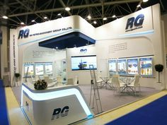 The exhibition booth of RG Petro-Machinery Group Co. Ltd at International Exhibition for Equipment and Technologies for Oil and Gas Industries NEFTEGAZ 2017 (Moscow, Russia). Exhibition Stall Design, Exhibition Display, Exhibition Space, Exhibition Stands, Exhibit Design, Exhibition Ideas, Layout Design, Design Web, Banner Design