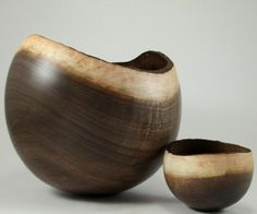 amazing Duality Black Walnut Bowls by makye77 on Etsy, $261.00