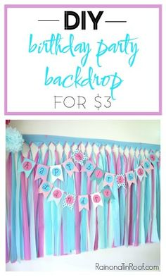DIY Party Backdrop / DIY Party Background / DIY Party Decorations