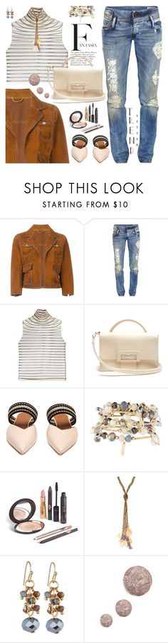 """""""Spring neutrals"""" by jan31 ❤ liked on Polyvore featuring Dsquared2, Diesel, Genny, Maison Margiela, Roksanda, Emily & Ashley and Topshop"""