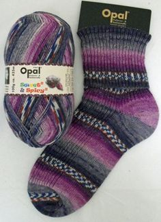 Opal Sock Yarn - Sweet and Spicy 2 - Red Cabbage | Hulu £8.50