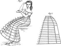 .História da Moda.: Lingerie Histórica - Parte 4: Crinolina/Cage