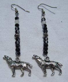 Howl At The Moon Dangling Earrings by SummerCAmber on Etsy, $8.00