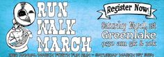 Choose from a 5k or 10k length to run, walk or march in during the March Forth Fun Run on March 1st, 2014 at Seattle's Green Lake Park.