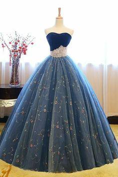 Vestido de baile princesa vestidos de baile, querida vestidos de baile, lace up apliques . Prom Dress Black, Pretty Prom Dresses, Sweet 16 Dresses, Prom Dresses Blue, Dress Long, Dress Prom, Party Dress, Prom Party, Wedding Dresses