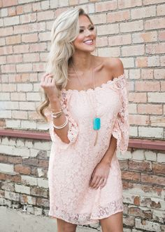 Boutique, Online Boutique, Women's Boutique, Modern Vintage Boutique,Dress, Pink Dress, Laced Dress, Short Dress, Off The Shoulder Dress, Long Sleeve Dress, Cute, Fashion