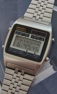 Vintage 70's Seiko M929-4000 Digital LCD Watch