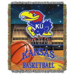 Kansas Jayhawks NCAA Woven Tapestry Throw (Home Field Advantage) (48x60)