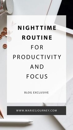Set yourself up to be productive and focused.
