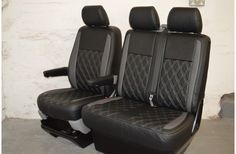 Bentley Style VW T5 Seat Covers Black & Grey