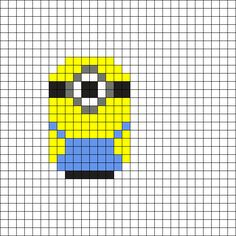 Minion - Despicable Me Perler Bead Pattern