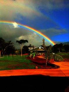 Saw many double and some triple rainbows in Hawaii.