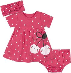 Gerber Baby Girls' Dress, Diaper Cover and Headband Set Cheap Baby Clothes, Newborn Boy Clothes, Newborn Outfits, Baby Boy Outfits, Kids Outfits, Baby Girl Fashion, Kids Fashion, Babies Fashion, Baby Doll Accessories