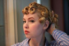 pin curls - via Johanna Ost