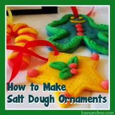 Create a beautiful childhood keepsake with these step-by-step instructions for making salt dough Christmas ornaments with your kids. Diy Christmas Gifts, Holiday Crafts, Christmas Holidays, Christmas Decorations, Felt Christmas, Homemade Christmas, Christmas Ideas, Christmas Activities For Kids, Crafts For Kids