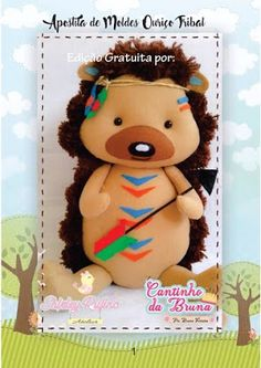 Click LEFT to see free pattern Sewing Toys, Fabric Dolls, Baby Gifts, Free Pattern, Sewing Patterns, About Me Blog, Teddy Bear, How To Make, Animals