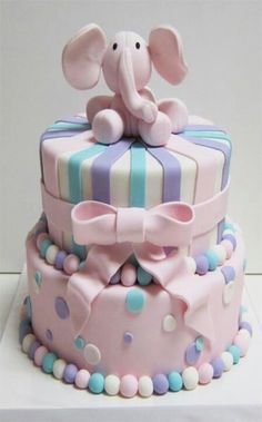 BABY SHOWER CAKE maybe shades of blue and green with a farm animal on top for Meg's