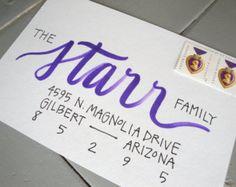 Calligraphy Envelope Addressing, Custom Handwritten Lettering for Wedding Invitation or Christmas Card