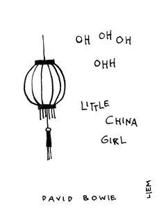David Bowie. China Girl. 365 illustrated lyrics project, Brigitte Liem.