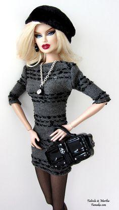 Beatnik  Dress Fashion for Fashion Royalty and Silkstone by Famaka, $70.00
