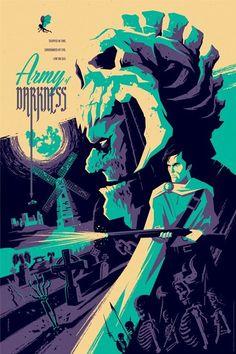 Army of Darkness poster by Tom Whalen - Geek Art. Follow back if... #comics #art