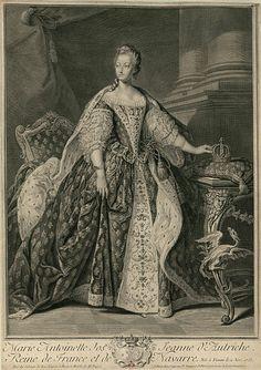 Portrait de Marie Antoinette d'Autriche, reine de France