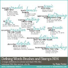 Defining Words Brushes and Stamps No. 04- Katie Pertiet Brushes- DS944188- DesignerDigitals