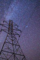 Stars Over Power Line