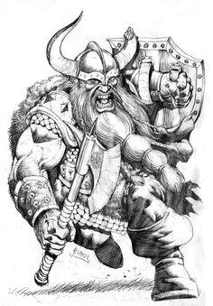 Dwarf Fighter by RubusTheBarbarian.deviantart.com on @deviantART