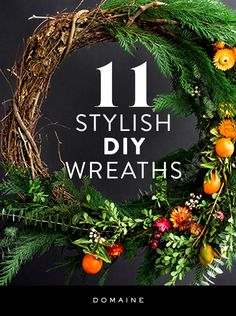Gorgeous, festive, and modern holiday wreaths to DIY