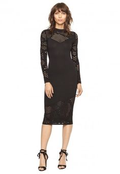 Long sleeve dress with cut out details. By Milly. Date Night Dresses, Gala Dresses, Dresses For Work, Evening Dresses, Holiday Dresses, Special Occasion Dresses, Brunch Dress, Cruise Dress, Fall Fashion Trends