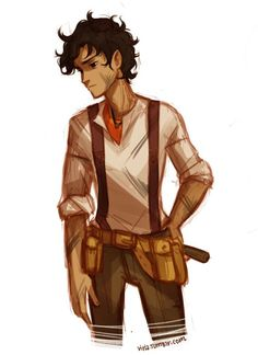 Percy Jackson Fan Art Discover The Final Quest ψ; Blood of Olympus & Percy Jackson Fanfic - IX. LEO Awwwww i love leo when hes sad. Percy Jackson Fan Art, Percy Jackson Fandom, Percy Jackson Books, Percy Jackson Official Art, Percabeth, Solangelo, Annabeth Chase, Percy Et Annabeth, Piper Mclean