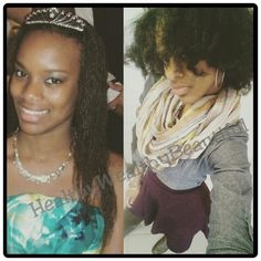 The picture on the left is her 16th birthday cruise to the Bahamas with relaxed hair.  On the right is 4 years later after being natural for 2 years & cut off quite a bit.  Her goal is to grow out her natural hair to the length it was previously.  She asked me, do you think your hair vitamins will help me accelerate my growth?  Me: Uhhh, Yeah! ✔Guess who's gonna do the 90 day Hair Skin Nails Challenge?  Take the Challenge!  www.TryHairSkinNails.com  #naturalhair #hairgrowth #naturalbeauty…