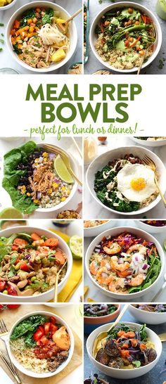 You can find some of the best meal prep bowl recipes around town on Fit Foodie Finds: lunch on-the-go, healthy dinners, and so much more. Everything really does taste better in a bowl. Amiright?