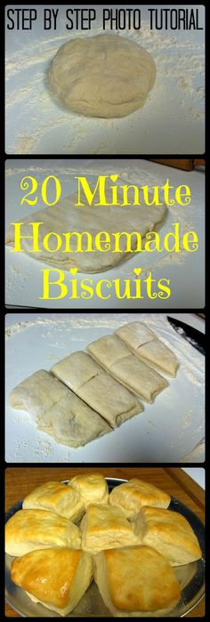 20 Minute Homemade Biscuits Step by Step Photo Tutorial Quick and easy melt in your mouth biscuits made with 6 simple ingredients!