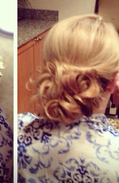 Kind of blurry but here's a bridesmaids updo I did #hairbymichelle